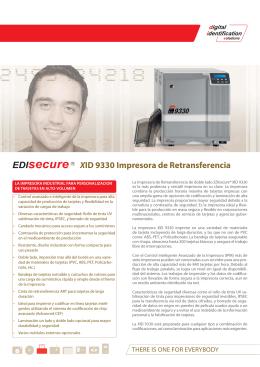XID 9330 Impresora de Retransferencia