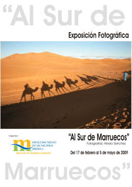 folleto al sur marruecos