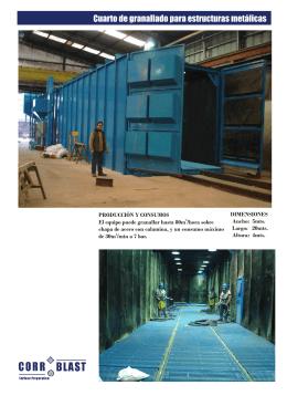 Folleto cuarto de granallado para estructuras metálicas