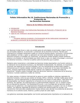 Folleto Informativo No.19, Instituciones Nacionales de Promoción y