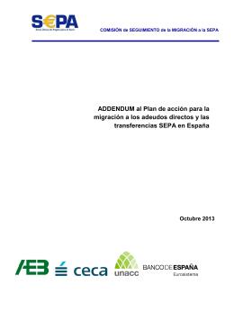 """Addendum"""" al Plan de Acción para la migración a los adeudos"""