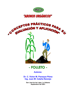 Edición Folleto Abonos orgánicos - Instituto Nacional de Ciencias