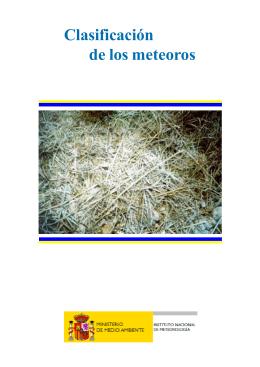 Documento clasificación de los meteoros
