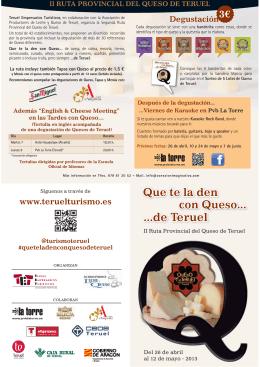 02/05/2013. Folleto II Ruta provincial del queso de Teruel