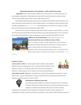 CEDO Boletín Electrónico, 2012 septiembre: Otoño escalofríos las