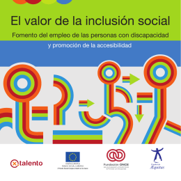 Descarga el folleto el valor de la inclusion social
