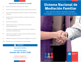Folleto Mediación Familiar