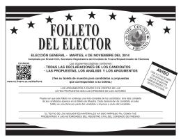 elección general • martes, 4 de noviembre del 2014 • todas las