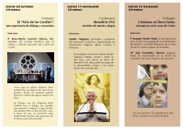 Folleto oct-dic 2011 - Obispado de Alcalá de Henares