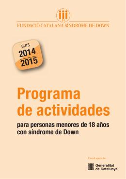 Descargar folleto  - Fundació Catalana Síndrome de Down