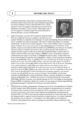 HISTORIA DEL SELLO