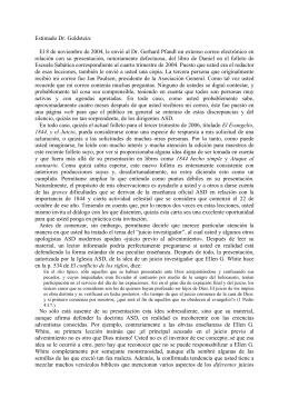 Carta al Dr. Clifford Goldstein relativa al folleto de escuela