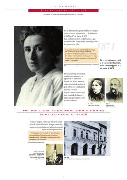 Rosa Luxemburg provenía de una familia judía afecta al espíritu de