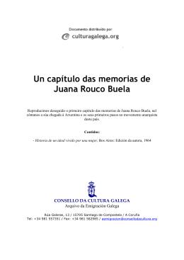 Un capítulo das memorias de Juana Rouco Buela