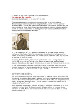Neruda, la soledad del capitán. Javier García