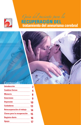 RECUPERACIÓN dEl - The Brain Aneurysm Foundation