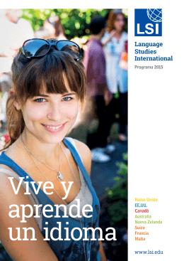 Descargar folleto PDF - Español - LSI Language Studies International