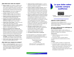 HID Brochure in Spanish - Minnesota Department of Health