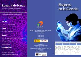 Triptico Mujeres en la Ciencia - Estación Experimental del Zaidín