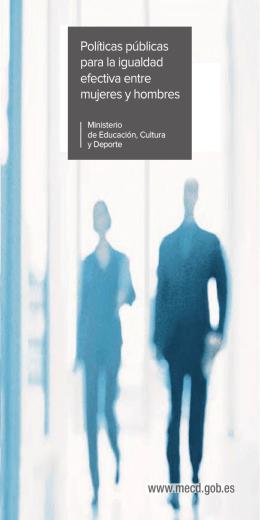 folleto informativo. - Ministerio de Educación, Cultura y Deporte
