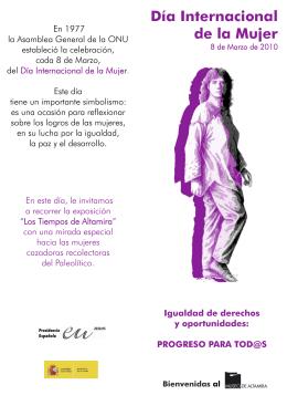 2010 Día de la Mujer (Folleto mano impreso)