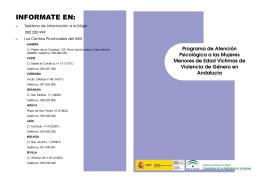 Programa de Atención Psicológica a las Mujeres Menores de Edad