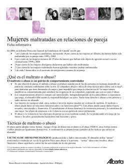 Women Abused in Intimate Relationships - Spanish