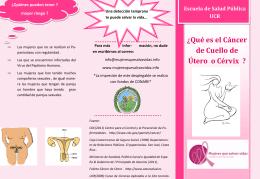 Cáncer de Cuello de Útero - Mujeres que Salvan Vidas