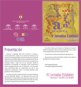 folleto IV jornadas estatales 2011