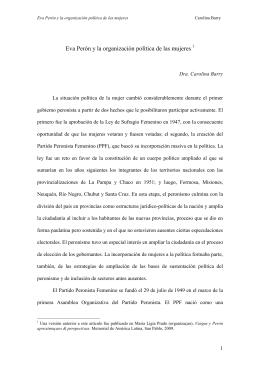 Eva Perón y la organización política de las mujeres