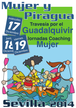 Folleto informativo - Federación Española de Piragüismo