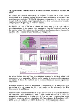el Díptico Mujeres y Hombres en Asturias 2011