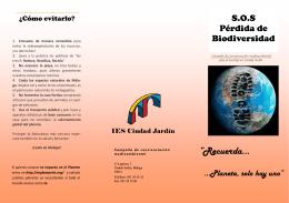perdida biodiversidad folleto