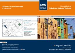 folleto guiado de viajes y turismo