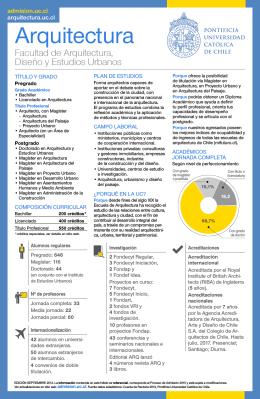 catálogo - Escuela de Arquitectura - Pontificia Universidad Católica