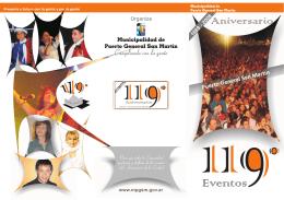 Folleto 119 Aniversario - Municipalidad de Puerto General San Martín