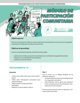 MÓDULO DE PARTICIPACIÓN COMUNITARIA