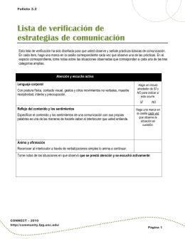 Lista de verificación de estrategias de comunicación
