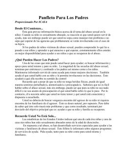 Panfleto Para Los Padres Proporcionado Por ICASA