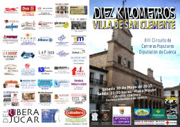 folleto carrera 2015 - XIII Circuito de Carreras Populares Diputación