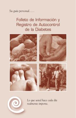 Folleto de Información y Registro de Autocontrol de la Diabetes