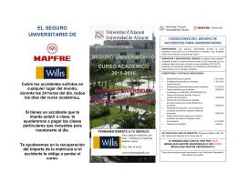 folleto de MAPFRE - Servicio de Gestión Académica