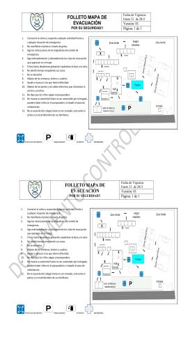 folleto mapa de evacuación folleto mapa de evacuación