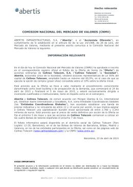 comision nacional del mercado de valores (cnmv)