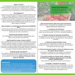 folleto nuevo rut (int) - Dirección de Agricultura y Contingencias