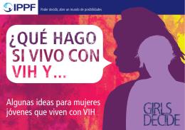 Algunas ideas para mujeres jóvenes que viven con VIH
