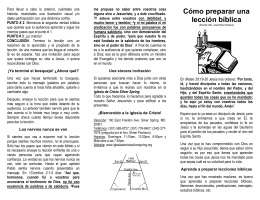 Cómo preparar una lección bíblica