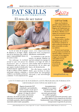 COLES- PAT SKILLS folleto informativo