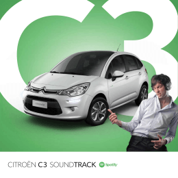 Folleto Citroen C3 Spotify