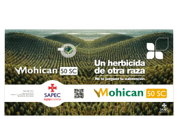 Descarga SAPEC Agro - Folleto Mohican 50SC
